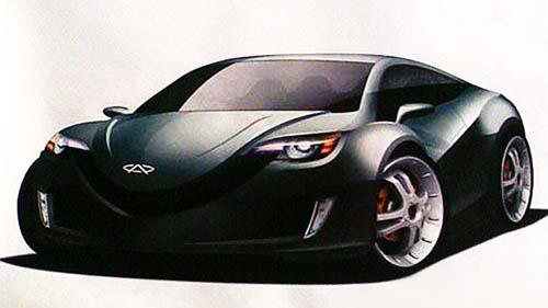 揭秘奇瑞mx超级跑车设计草图 不寒而栗的杀气
