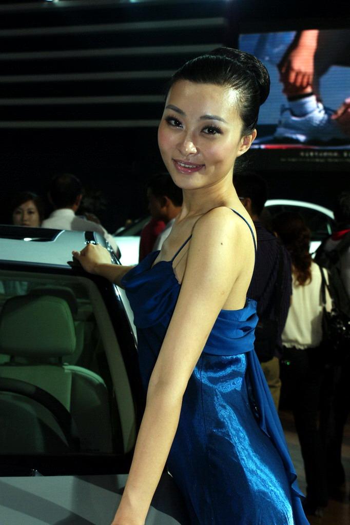 2009重庆国际车展模特